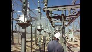 69 kv substation live line insulator washing avi