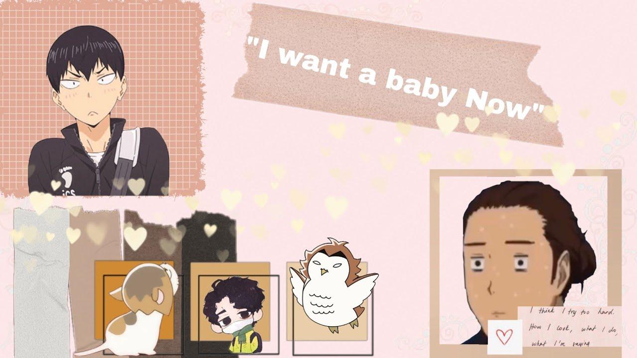 """I want a baby now"" Boyfriend's Challenge ~ Haikyuu Texts(non toxic)"