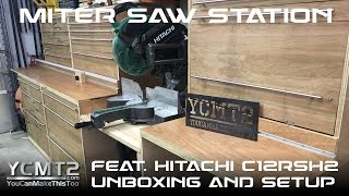 Miter Saw Station with Hitachi C12RSH2 // How To