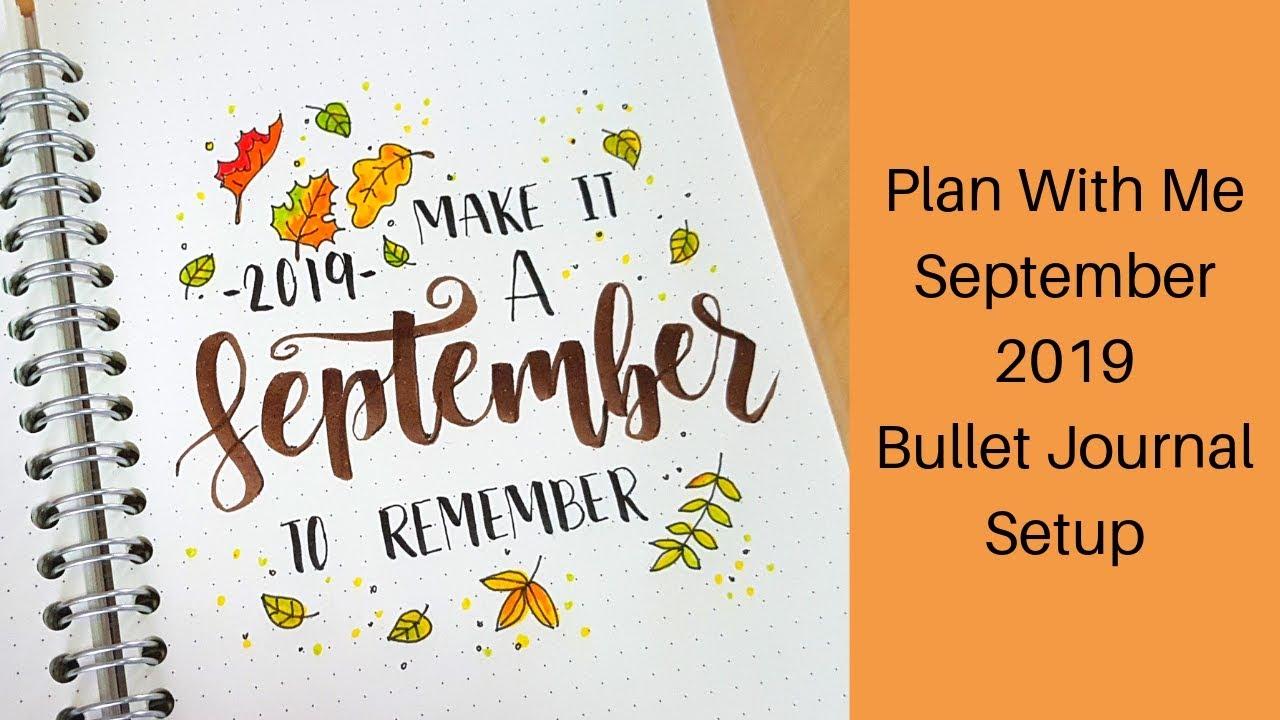 September 2019 Bullet Journal Setup ...