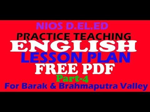 NIOS D EL ED PRACTICE TEACHING (514) LESSON PLAN (ENGLISH