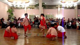 Filipino Tinikling Bamboo Dance Honolulu, Hawaii