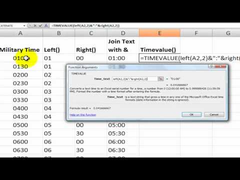 How to Convert from Military to Standard Time in Excel