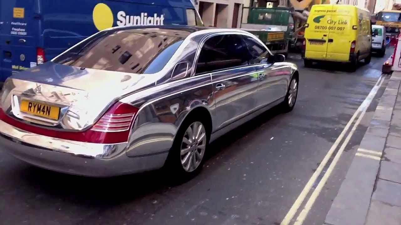 maybach with chrome paintjob youtube. Black Bedroom Furniture Sets. Home Design Ideas