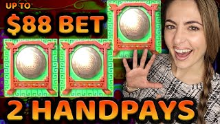 2 HANDPAY JACKPOTS! $88/SPIN on 88 Fortunes Game in Tampa!