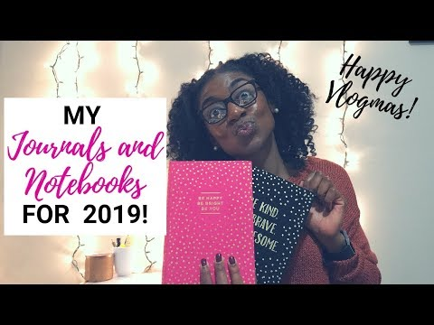 Journals and Notebooks for 2019! | JOURNAL AND NOTEBOOK HAUL | VLOGMAS!