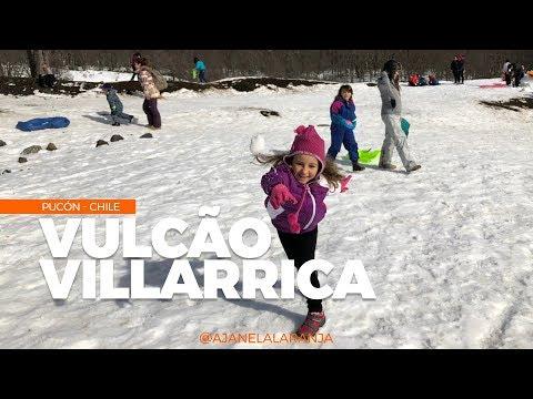 Vulcão Villarrica em Pucon no Chile, brincamos no vulcão mais ativo da América do Sul