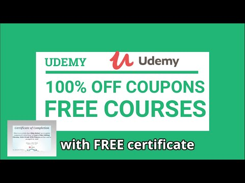 Udemy 100% OFF Coupons | Free Udemy Courses | Free Udemy Coupon Codes