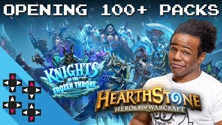 OPENING 100+ HEARTHSTONE: KNIGHTS OF THE FROZEN THRONE PACKS! — UpUpDownDown Streams