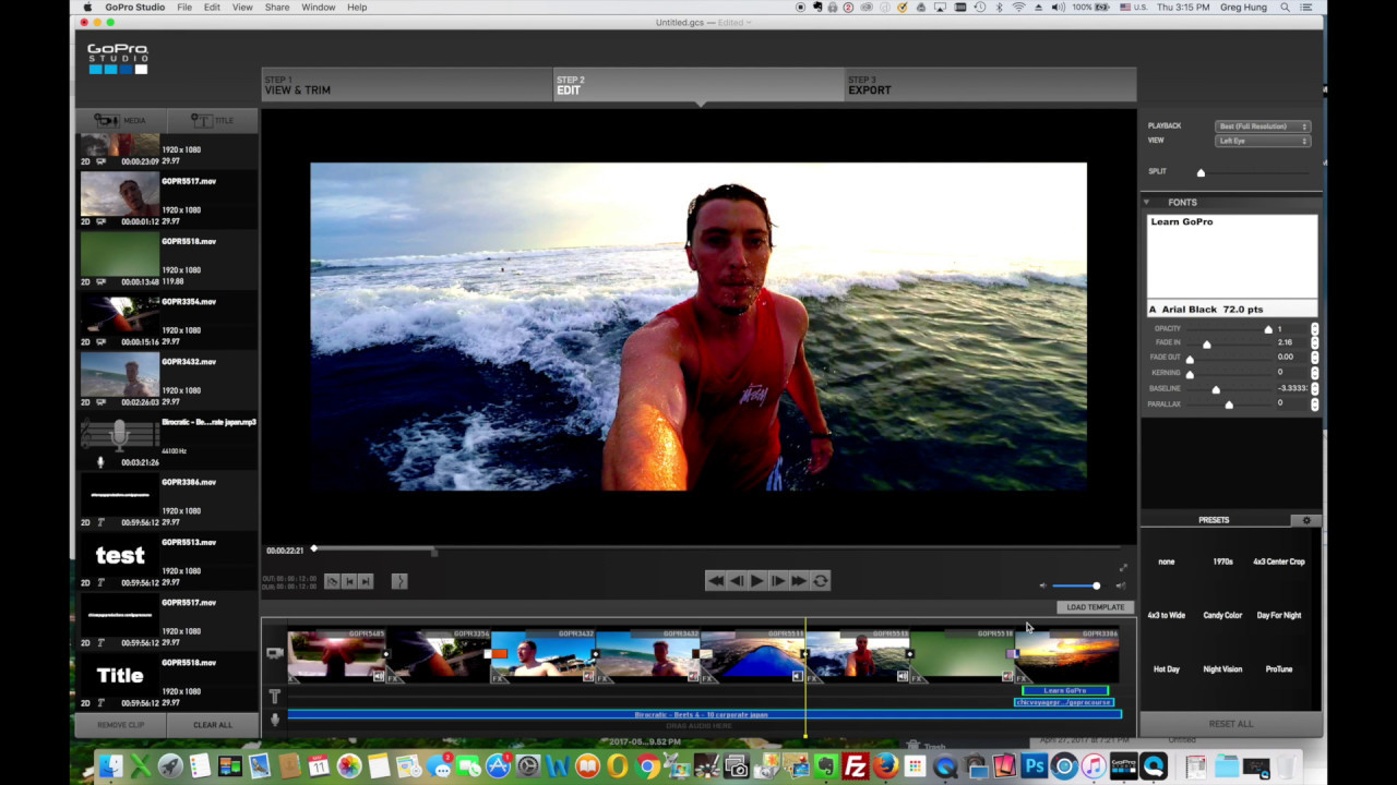 How to edit gopro 5 videos in gopro studio 2 5 with a for How to use gopro studio templates