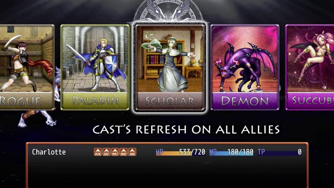 RPG Maker MV Draw and Choose Card Skills