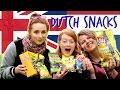 BRITISH GIRLS TRY DUTCH SNACKS