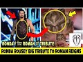 WWE Ronda Rousey shocking spider logo hairstyle tribute to Roman Reigns ! Roman Return ! In hindi