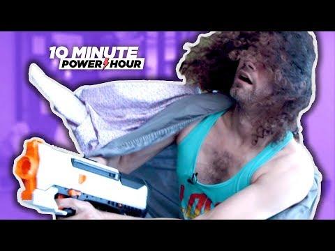 Pillow Fort NERF BATTLE - Ten Minute Power Hour