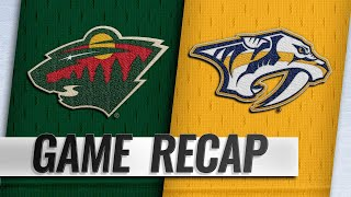 Rinne backstops Predators to 4-2 win over Wild