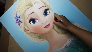 Speed Drawing: Elsa (Frozen Fever) | Diana Díaz