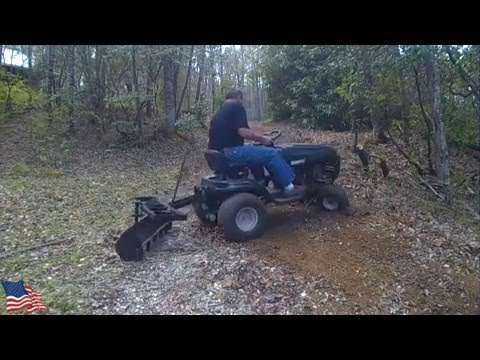 Lawn Tractor Grading a 150' rutted Gravel Driveway (Edited for Length)
