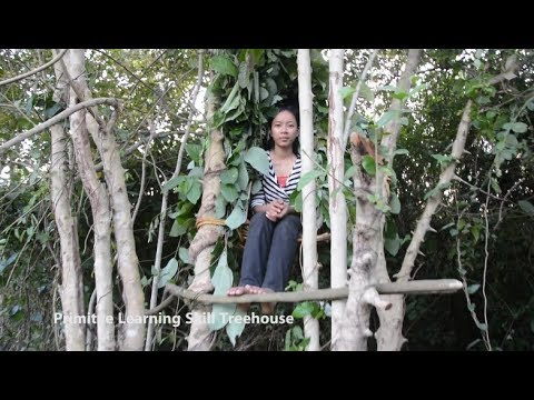 Primitve Learning Skill Building Treehouse in the forest