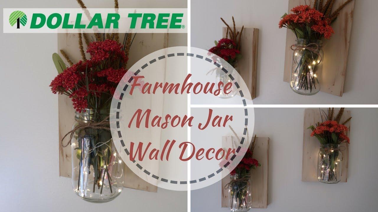 Farmhouse Decor Diy Dollar Tree Diy Fall Mason Jar Wall Decor