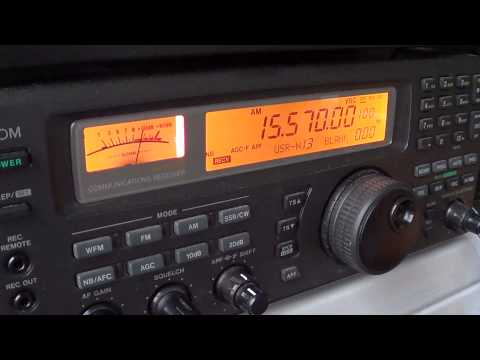 Radio Vatican interval signal to english 15570 khz