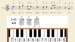 Notasi Lagu | Gelang Sipaku Gelang  – Notasi Lagu Anak Indonesia