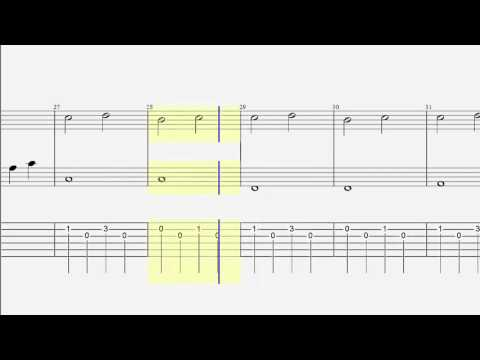 Easy Piano Guitar Duet - Falling Slowly - Tab and Notes