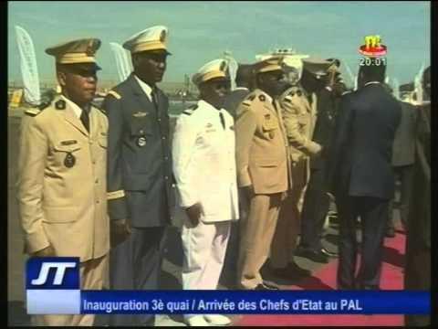 Inauguration du 3ème Quai au Port autonome de Lomé au Togo  Arrivée des Chefs d'Etat