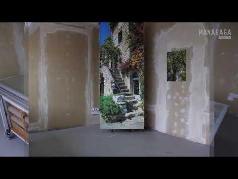 Фотообои «Лестница в дом на улочке старого городка»