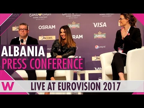 "Albania Press Conference 2 — Lindita ""World"" Eurovision 2017 