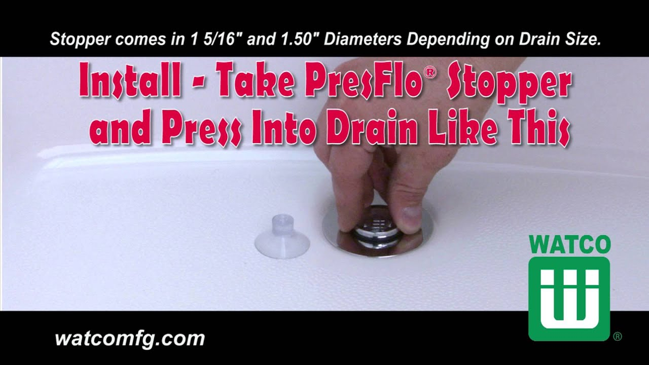 Watco PresFlo® Bathtub Stopper Installation and Removal - YouTube