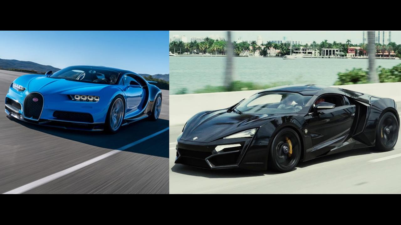Bugatti Veyron Hypersport bugatti chiron vs lykan hypersport-specifications - youtube