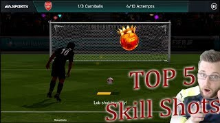 The Top Five Trick Shots in FIFA Mobile 18! How To Shoot a Knuckleball, Panenka, Trivela, Finesse!