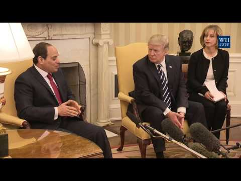 President Trump Meets With President el-Sisi