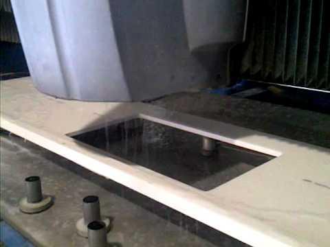 Quartz Sink Cut Out Using A Cnc