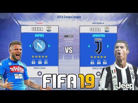 NAPOLI VS JUVENTUS SU FIFA 19!! SFIDA SCUDETTO!! LE POSSIBILI ROSE CHE POSSIAMO TROVARE!!