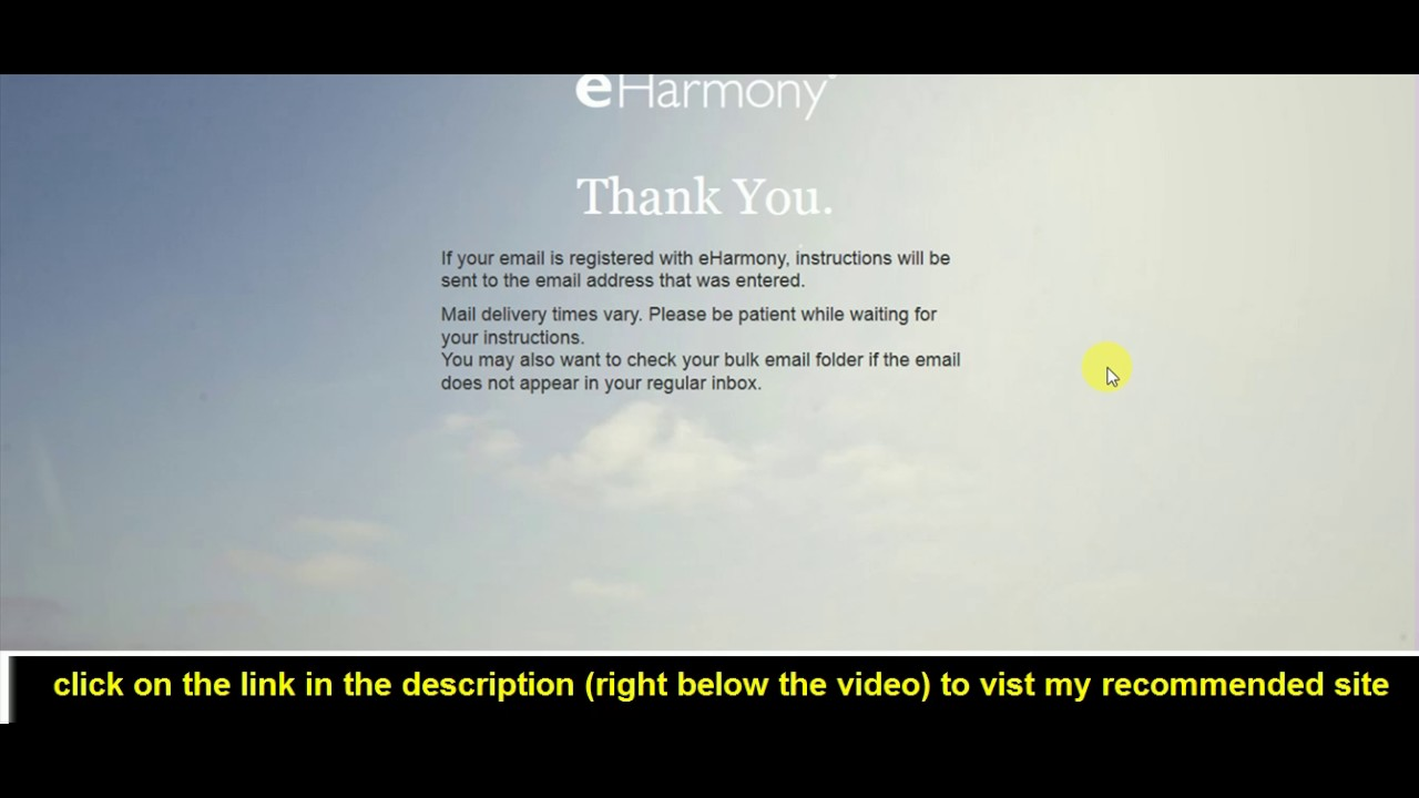 Eharmony forgot password