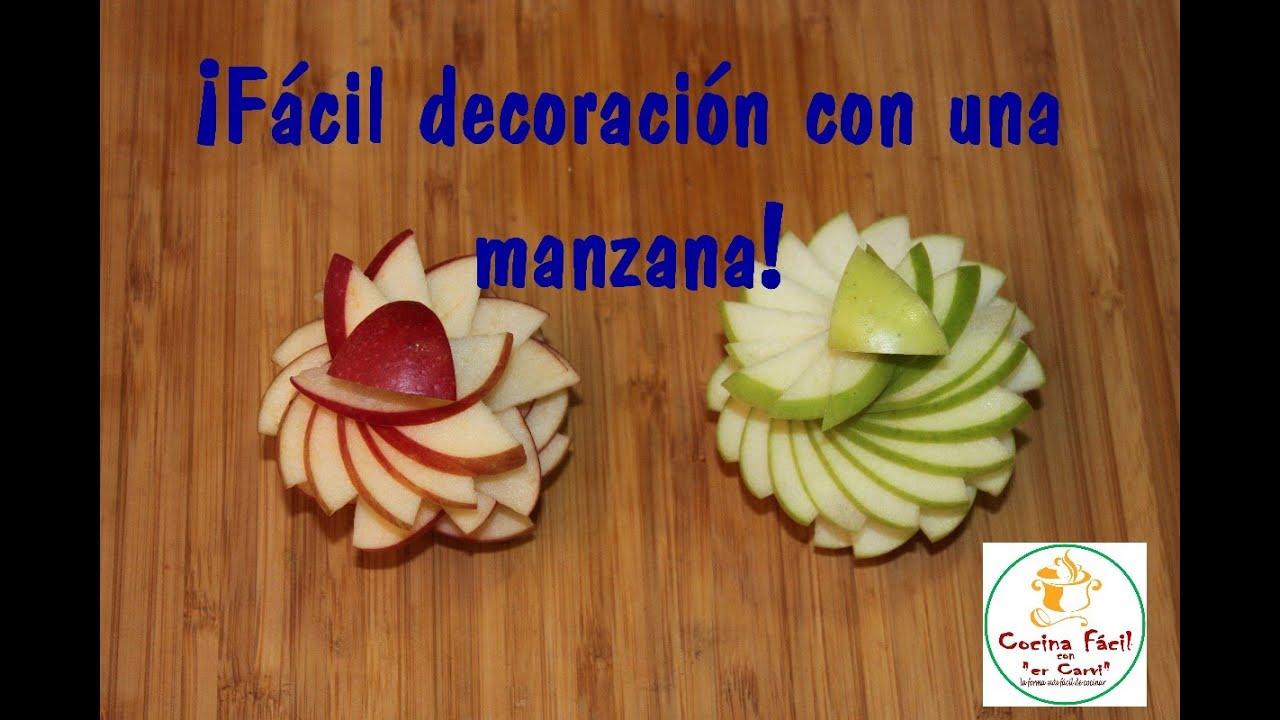 Fácil decoración con una manzana! - YouTube