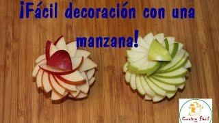 ¡Fácil decoración con una manzana!