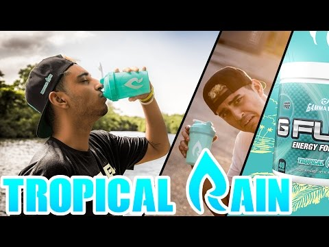 NEW G-Fuel TROPICAL RAIN First Look AND Taste Test! - WITH SIGNED HAT!