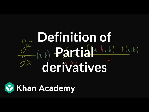 Formal definition of partial derivatives