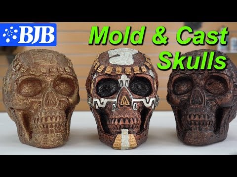 Mold Tutorial | Roto-Casting a Skull in Resin and Foam