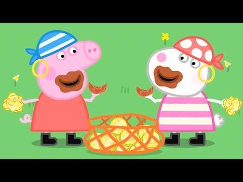 Свинка Пеппа на русском все серии подряд | Празднование с пиратами! | Мультики