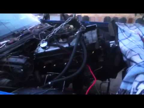 Ray pulling out a 350 from my 1975 el camino