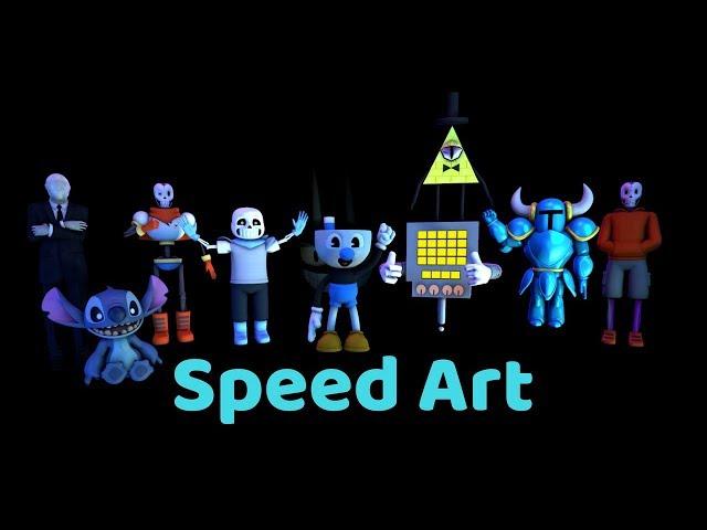 KyzerAndTheVoices 20k subscribers special Speed Art