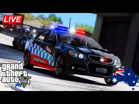 GTA 5 - LSPDFR Australia LIVE - NSW Highway Patrol VF Commodore (Play GTA as a cop mod for PC)