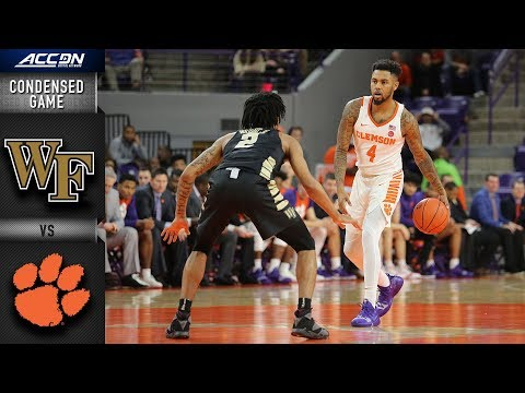 Wake Forest vs. Clemson Condensed Game | 2018-19 ACC Basketball