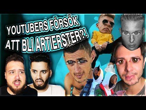 REAGERAR MED FILIP DIKMEN:  YouTubers som ville bli ARTISTER?! *VLAD, HYDRA., DON V, CLUEE & TERYOS*