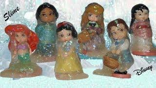 Slime e Princesas Congeladas da Disney Pequenas! Parte 2! Set com 11 bonecas Toddler Pt Br
