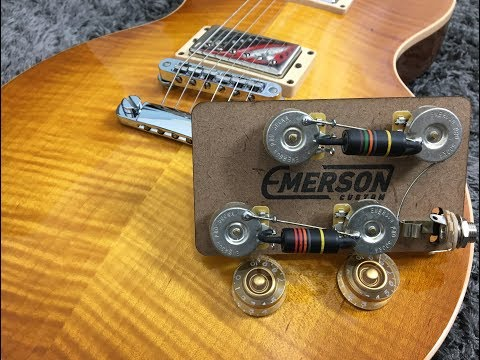 Emerson Custom Prewired Kit - Lespaul Long Shaft - (LP-BB-Long). - YouTubeYouTube
