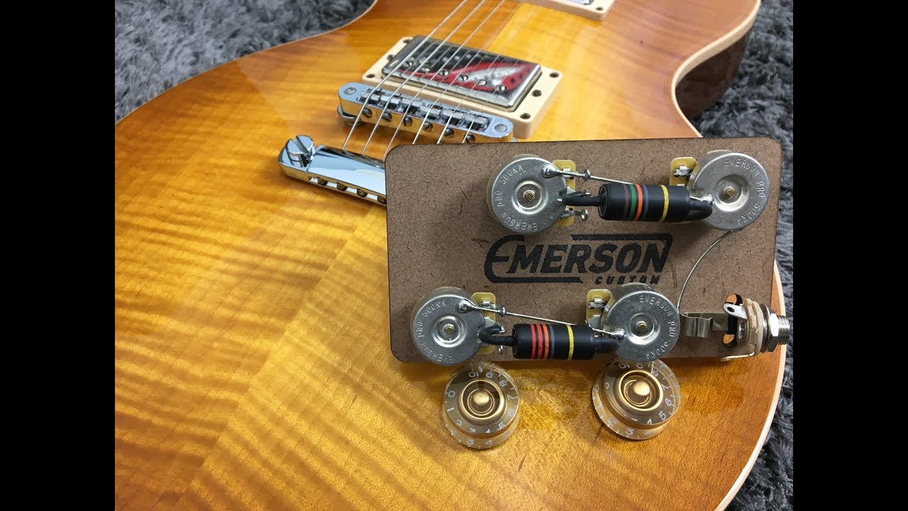Emerson Custom Prewired Kit Lespaul Long Shaft Lp Bb Les Paul Pro Wiring Diagram